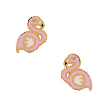 Earrings with flamingo 9ct