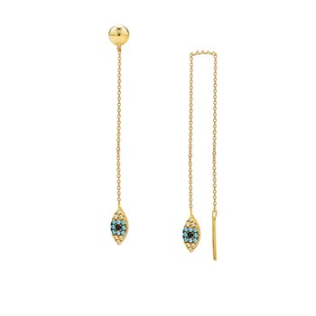 Earrings with evil eye 9ct