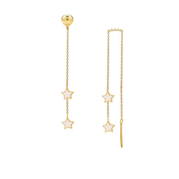 Earrings with stars 9ct gold