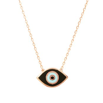 Necklace evil eye 9ct rose