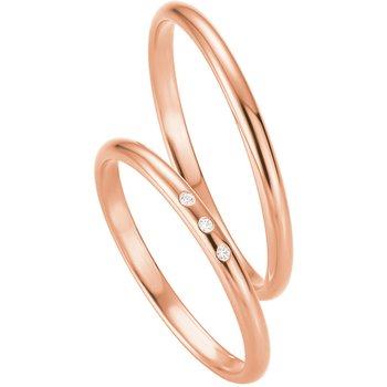 Wedding rings in 8ct Rose