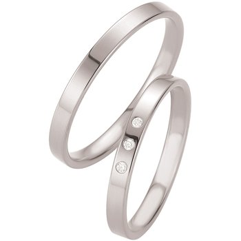 Wedding rings in 8ct White