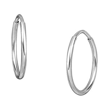 Earrings14ct white gold