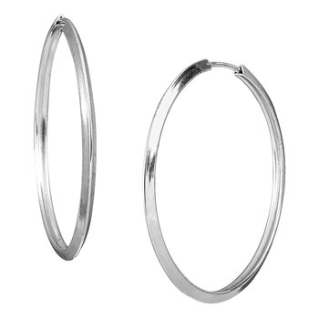 Earrings 9ct white gold