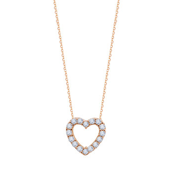 Heart Necklace in 9ct Rose