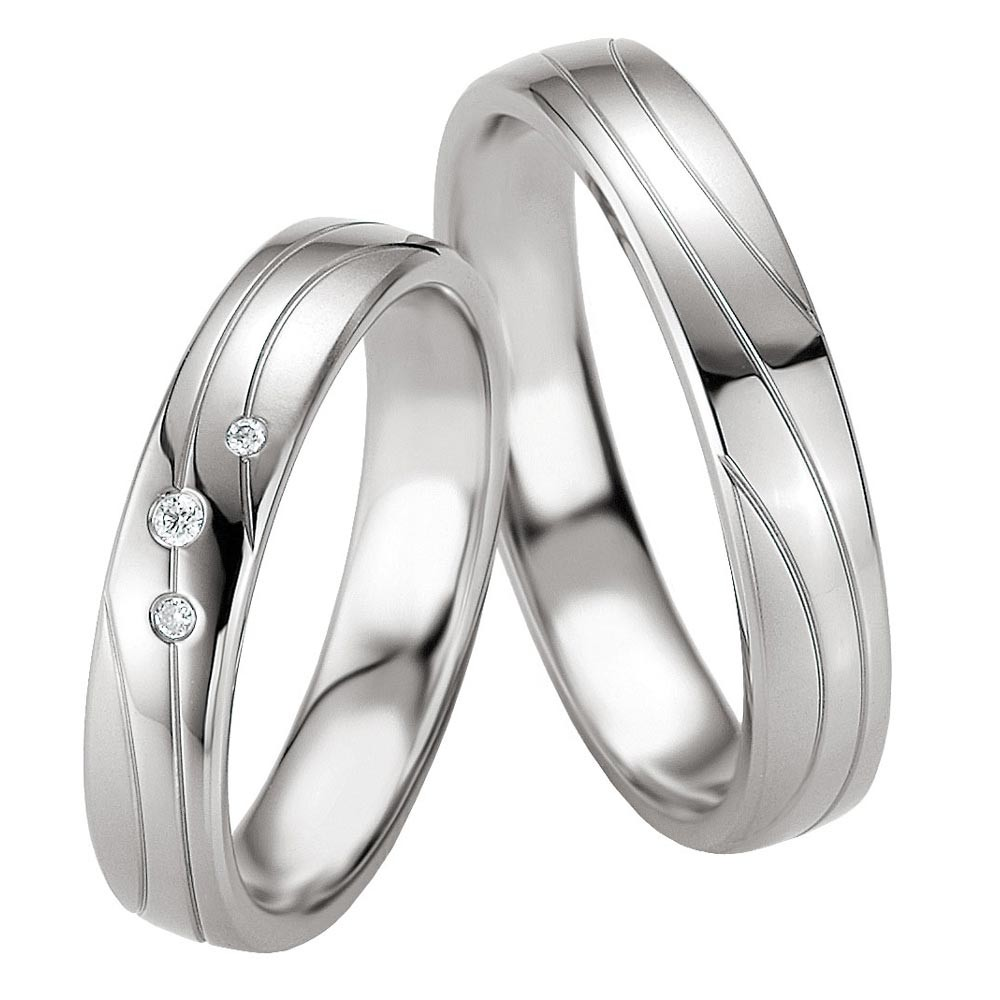 wedding rings in silver 925 sterling silver with diamond breuning. Black Bedroom Furniture Sets. Home Design Ideas