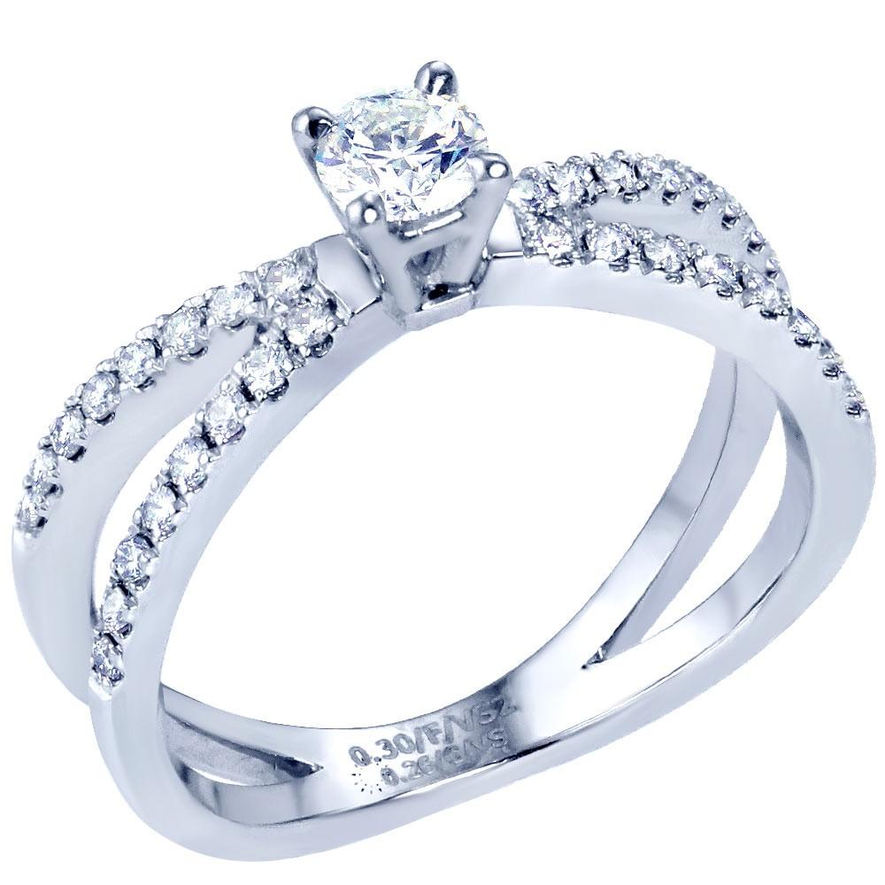 Μονόπετρο Δαχτυλίδι Πλατίνα με Διαμάντια - kosmima.gr 05dc48e815a