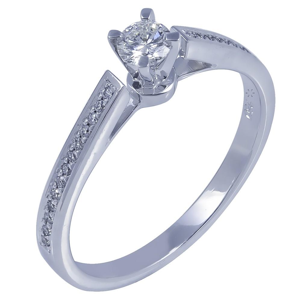 Μονόπετρο Δαχτυλίδι 18Κ Λευκόχρυσο με Διαμάντι 0.25ct - kosmima.gr 11b4aa03a54
