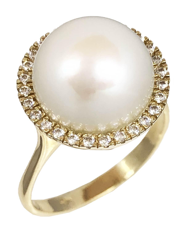 Δαχτυλίδι SAVVIDIS από χρυσό 14Κ με μαργαριτάρι και ζιργκόν - kosmima.gr 4116ef54add